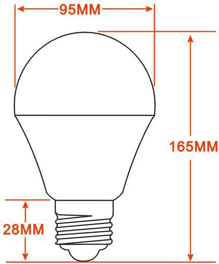 球泡灯外形示意图